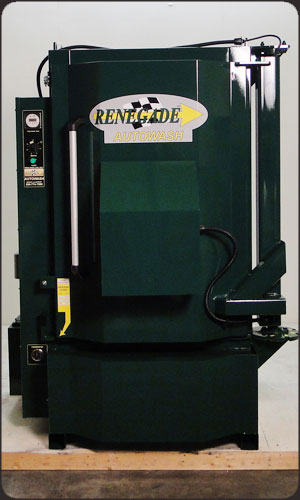 Custom Dark Green Color Parts Washer