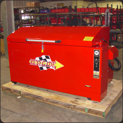 Custom Red Color Parts Washer