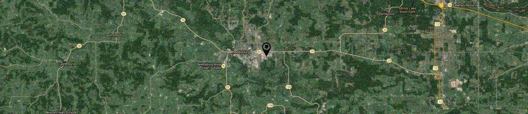 Map of Reedsburg WI USA Area